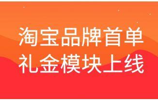 推券客淘宝品牌首单礼金软件专题模块上线